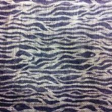 Black on Natural Baby Zebra Print Sinamay